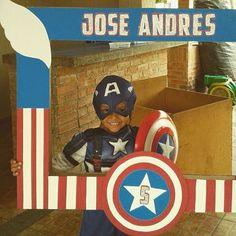 Cliente Feliz con su Marco de Capitán América #MarcoParaFotos #Props…
