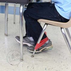 Keeps feet busy under your desk without distracting others in the classroom.