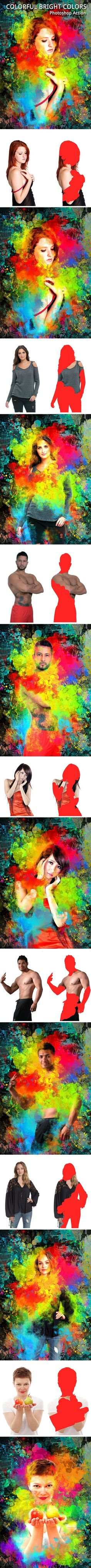 Colorful Bright Colors Photoshop Action