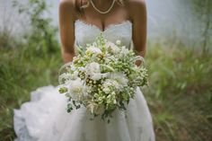 We loved making this wedding bouquet! Stunning! Photo courtesy of Love is a Big Deal Photography