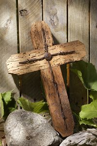 Rustic Wormwood Barbed Wire Cross $60.00 http://www.celebrateyourfaith.com/Rustic-Wormwood-Barbed-Wire-Cr-P2897C295.cfm