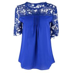Women's Clothing Silvercell Chic Embroidery Blouse For Women See Through Collar Cuff Flora Lace Blusas Femininas Long Sleeve Casual Plus Size Volume Large