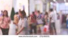 Blur people walking in department store, blur people background