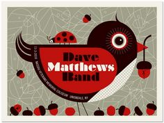 Dave Matthews Band concert poster Uniondale- Nov 2010 hand made 3 color screen print poster measures 18 inches x 24 inches hand signed artist proof artist: Robert Lee (Methane Studios) Dave Matthews Band Posters, Christmas Artwork, Concert Posters, Music Posters, Love Band, Veterans Memorial, Love Illustration, Cool Posters, Screen Printing