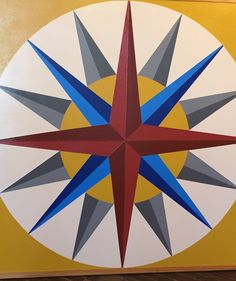 Mariner's Compass 4x4 By: Barn Quilts of Wabash County