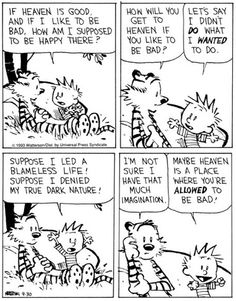 Once again Calvin and Hobbes raise real metaphysical questions Calvin And Hobbes Quotes, Calvin And Hobbes Comics, Cartoon Network Adventure Time, Adventure Time Anime, What Is Heaven, Chemistry Cat, My Calvins, It Goes On, You Funny