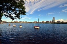 The Charles River on a nice spring day. DiscoverTheCharles.com #CambMA