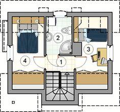 Cute House, House Blueprints, Tiny House Design, Design Case, Smart Home, Planer, House Plans, Floor Plans, Cottage