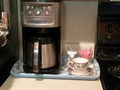 DIY tray for the coffee pot