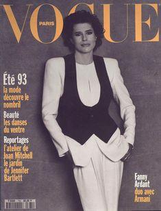 Fanny Ardant pour le numéro d'avril 1993 de Vogue Paris