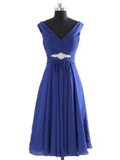 Landybridal Women's A-line Knee Length Chiffon Bridesmaid Dress Bbal0058 2 Blue Landybridal,http://www.amazon.com/dp/B00CXO8QJ8/ref=cm_sw_r_pi_dp_DYO7sb1Z3BFH14SC