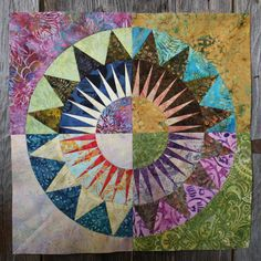 New York Beauty Quilt Block Paper Piecing Pattern - Block I