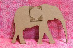 Indian Wedding Elephant- Boho-Gypsy laser Chipboard Die Cut