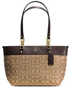 Coach Sophia Small Tote In Signature Jacquard Handbags Accessories Macy S