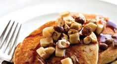 Crazy Sexy Kitchen Recipe: Cornmeal Banana Walnut Pancakes  #vegan #plantbased #healthy #recipe #whatveganseat #breakfast
