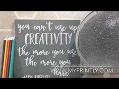 Video Tutorial: DIY Painted Inspirational Sign