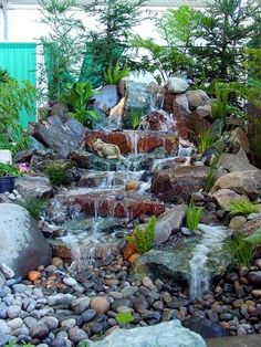 45 Best Diy Garden Pond Waterfall Ideas You are in the right place about diy garden landscaping idea Diy Garden, Garden Pond, Water Garden, Diy Waterfall, Waterfall Design, Backyard Water Feature, Ponds Backyard, Backyard Waterfalls, Natural Pond