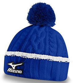 Designed with a chunky outer and fleece lining these mens cable knit golf  beanie bobble hats by Mizuno will give you ultimate warmth and comfort on  those ... 4a82a59ff4e
