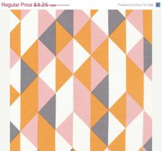 Entire shop on SALE On Point in Peachy, Simpatico by Michelle Engel Bencsko for Cloud9 Fabrics, ORGANIC, Fat Quarter. $2.93, via Etsy.