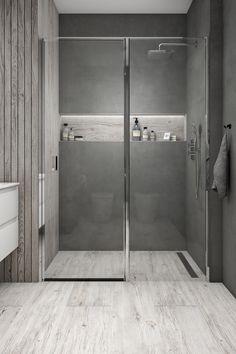 Useful Walk-in Shower Design Ideas For Smaller Bathrooms – Home Dcorz Wood Bathroom, Bathroom Toilets, Bathroom Renos, Modern Bathroom, Small Bathroom, Master Bathroom, Shower Tile Designs, Walk In Shower Designs, Small Walkin Shower