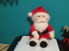 Hand knitted Santa made by me