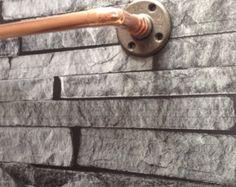 Towel rail, large, copper, industrial, bathroom accessories