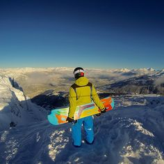 """dreamoriginal: """" Enjoying the view at the top of Whistler, Canada ! Lets Run Away, The Mountains Are Calling, Whistler, Extreme Sports, Snowboarding, Gopro, Tourism, Canada, In This Moment"""