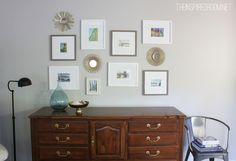 simple, clean gallery wall