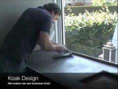 ▶ Betonnen aanrechtblad maken ter plaatse gestort door Koak Design - YouTube