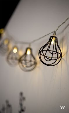Industrial themed mini LED Battery powered lights.  Hang them from the ceiling, place them on tables, or add a focal point to your wedding table!