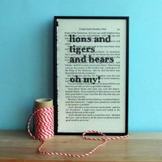Framed page of literature with personalize message