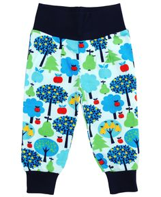 DUNS Sweden blue apple tree baby pants #myloveitfive