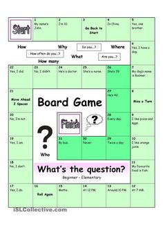 Board Game - What's the Question? (Easy)