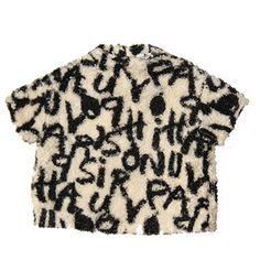Graffiti Textured Furry Tunic Top by Tambere - Junior Edition www.junioredition.com