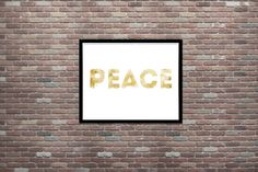 Peace Urban Art Grunge Art Dorm Decor Teen by CottageArtShoppe