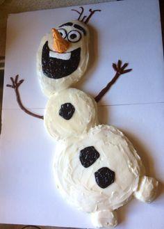 DIY Easy Olaf cake Frozen #frozen #olaf