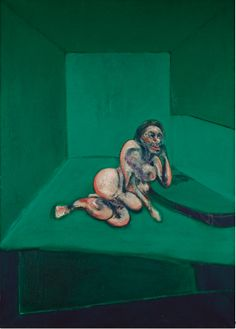 Francis Bacon, crouching nude