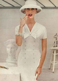 Mary Jane Russell, Vogue, December 1955.
