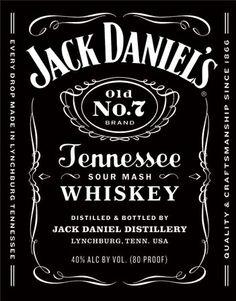 Chapa metálica decorativa Jack Daniel's