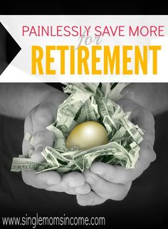 Don't let saving for retirement overwhelm you. With this easy way to save more for retirement you can do your part without even noticing it! Give it a try. Frugal Living Ideas Frugal Living Tips #frugal