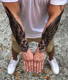 Rate This Skull Wings Tattoos 1 to 100 Sketches Forarm Tattoos, Dope Tattoos, Skull Tattoos, Body Art Tattoos, Tattoos For Guys, Animal Tattoos, Wing Tattoos, Celtic Tattoos, Forearm Wing Tattoo