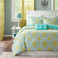 Mizone Paige 3-piece Duvet Cover Set | Overstock.com Shopping - The Best Prices on Mi-Zone Teen Bedding