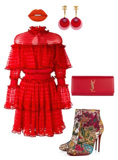 """""""Untitled #59"""" by stylemezamar on Polyvore featuring Alexander McQueen, Christian Louboutin, Lime Crime, Yves Saint Laurent and Chanel"""