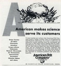 Atomic Felt (Oct, 1954)