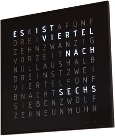 Wörter-Funkuhr 3 | SpaceFlakes.de