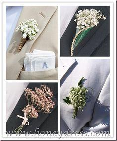 flowers on bridegroom