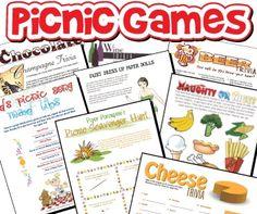 Printable Party Games - Picnic, BBQ, Camping Games