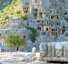 Kekova - sunken city - Antalya - Turkey (The northeast part of Kekova seen from Kaleköy (ancient Simena) Turkey )