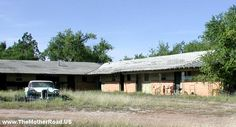 Shamrock, TX. Edsel and Old Route 66 Motel.