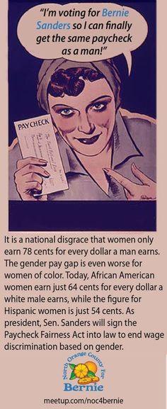 Women for Bernie Sanders #FeelTheBern!